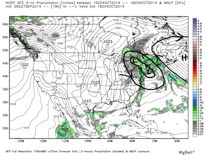 October 1st-3rd Potential Coastal Gfs_su22