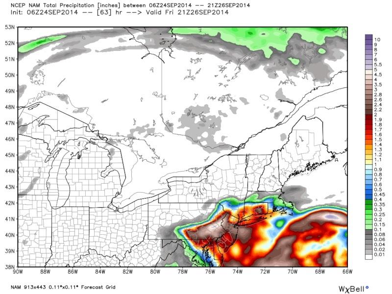 Coastal Storm 9/25/14 Nam_6z10