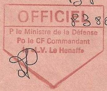 * LIEUTENANT DE VAISSEAU LE HÉNAFF (1980/....) * 00-0013