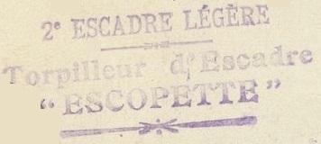 * ESCOPETTE (1903/1921) * 14-0310