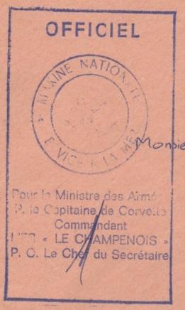 * LE CHAMPENOIS (1957/1975) * 72-0211