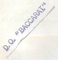 * BACCARAT (1956/1993) * 74-08_10