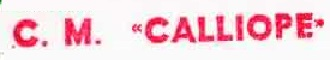 * CALLIOPE (1972/1997) * 81-0211
