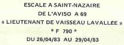 * LIEUTENANT DE VAISSEAU LAVALLÉE  (1980/2018) * 83-04_11