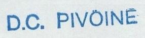* PIVOINE (1955/1984) * 84-0312