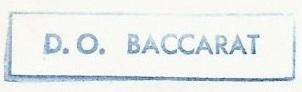 * BACCARAT (1956/1993) * 84-0413