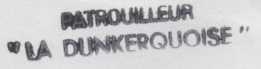* LA DUNKERQUOISE (1954/1986) * 87-0712