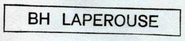 * LAPÉROUSE (1988/....) * 88-0412