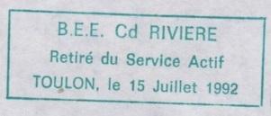 * COMMANDANT RIVIÈRE (1962/1992) * 92-0710