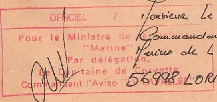 * LIEUTENANT DE VAISSEAU LAVALLÉE  (1980/2018) * 93-0912