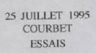 * COURBET (1997/....) * 95-0712