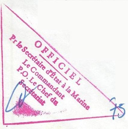 * AMIRAL CHARNER (1962/1990) * E01-7910