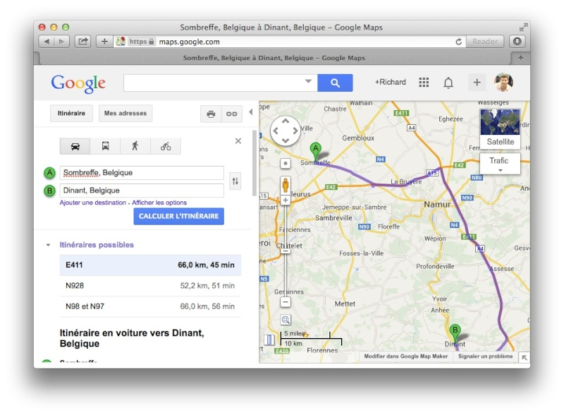 [TUTO] Créer un itinéraire avec Google Map et le convertir en GPX Screen10
