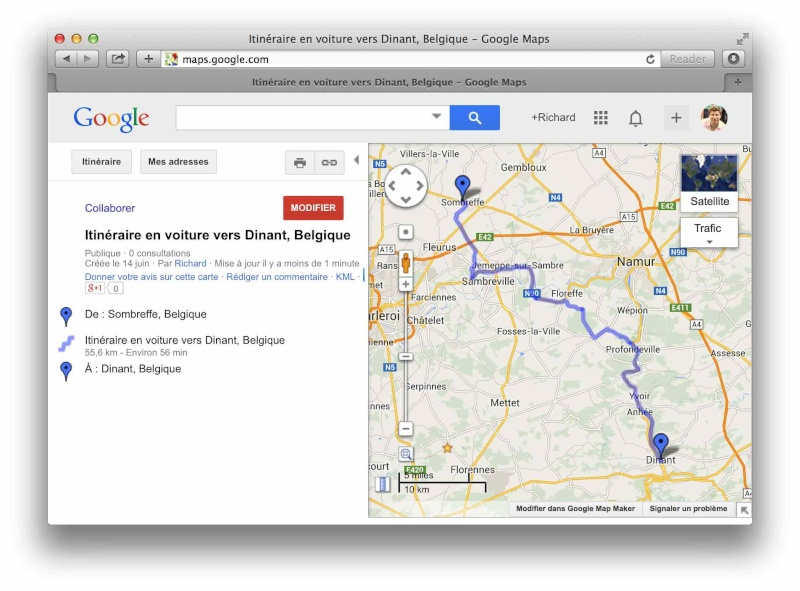 [TUTO] Créer un itinéraire avec Google Map et le convertir en GPX Screen12