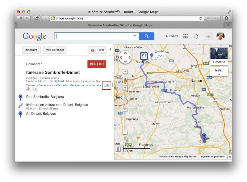 [TUTO] Créer un itinéraire avec Google Map et le convertir en GPX Screen23