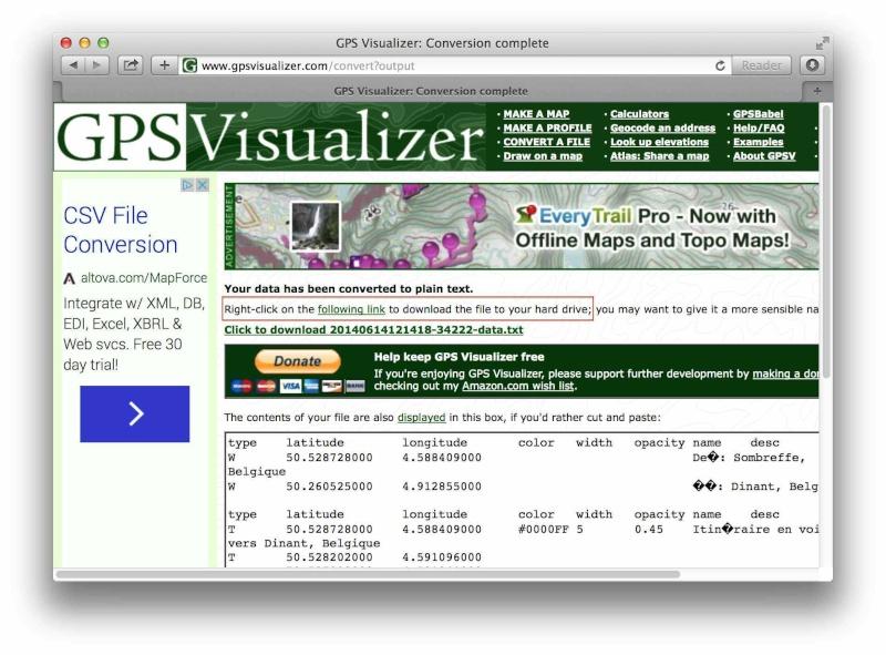 [TUTO] Créer un itinéraire avec Google Map et le convertir en GPX Screen25