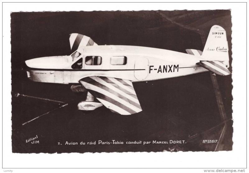 """Caudron C-635 Simoun """" raid Paris-Tokyo """" ( kit heller 1/72 ) 464_0011"""