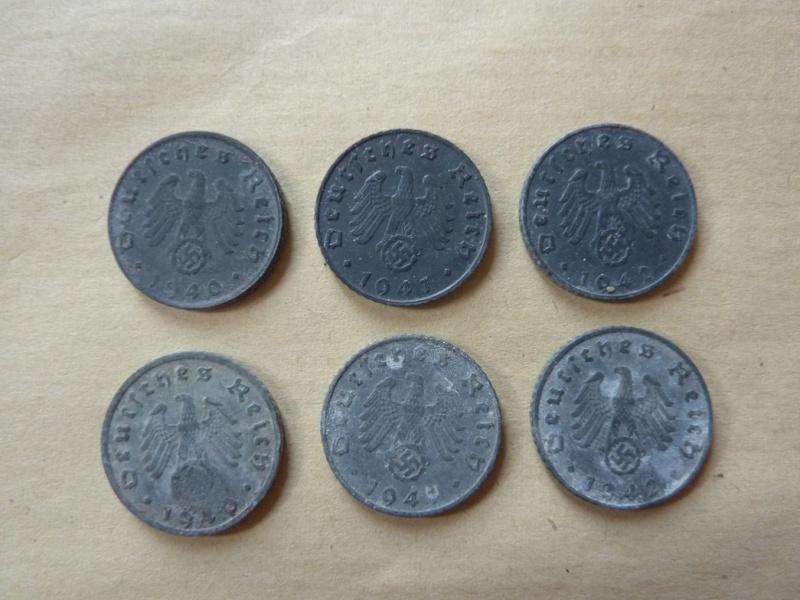 Détail de lot de monnaies P1180536