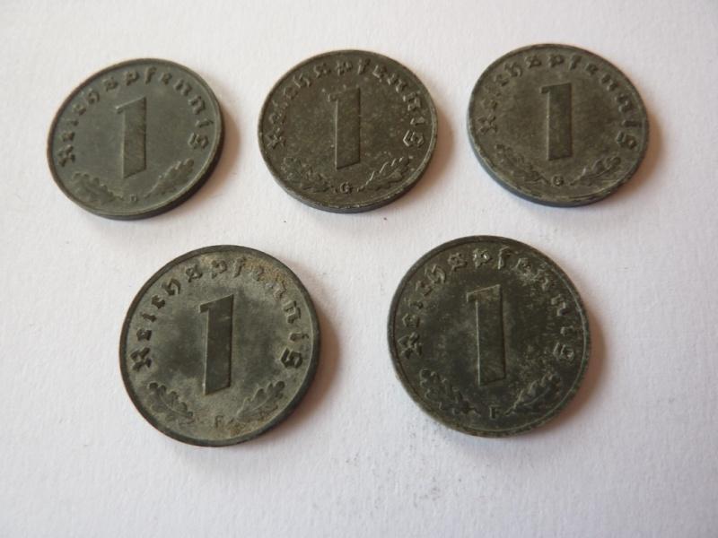 Pieces de 1, 5 et 10 Reichspfennig, toutes annees. P1180710