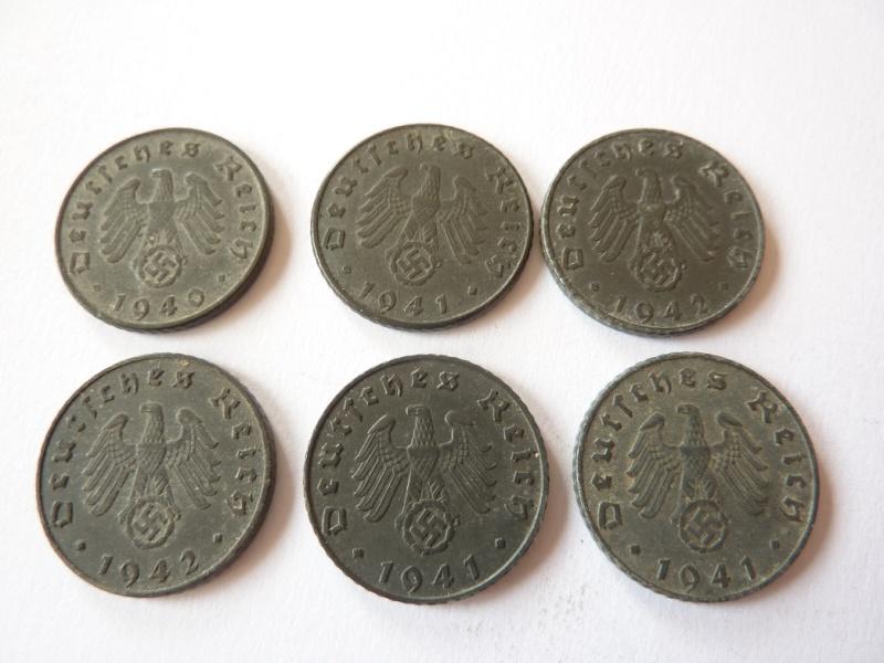 Pieces de 1, 5 et 10 Reichspfennig, toutes annees. P1180714