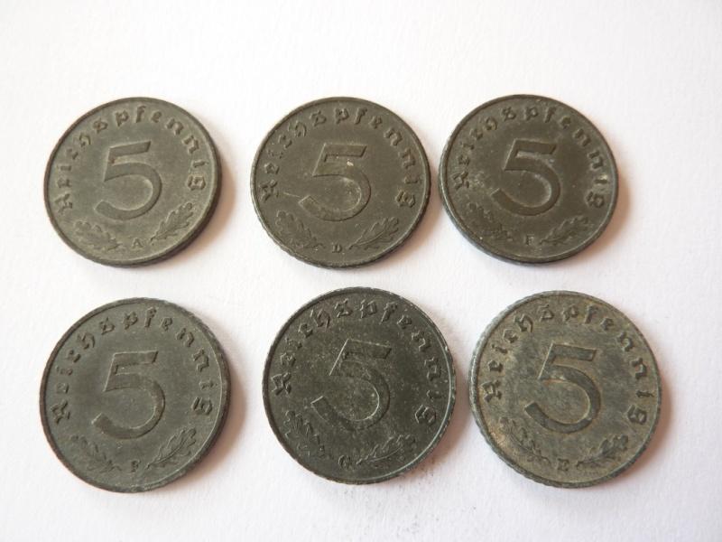 Pieces de 1, 5 et 10 Reichspfennig, toutes annees. P1180715