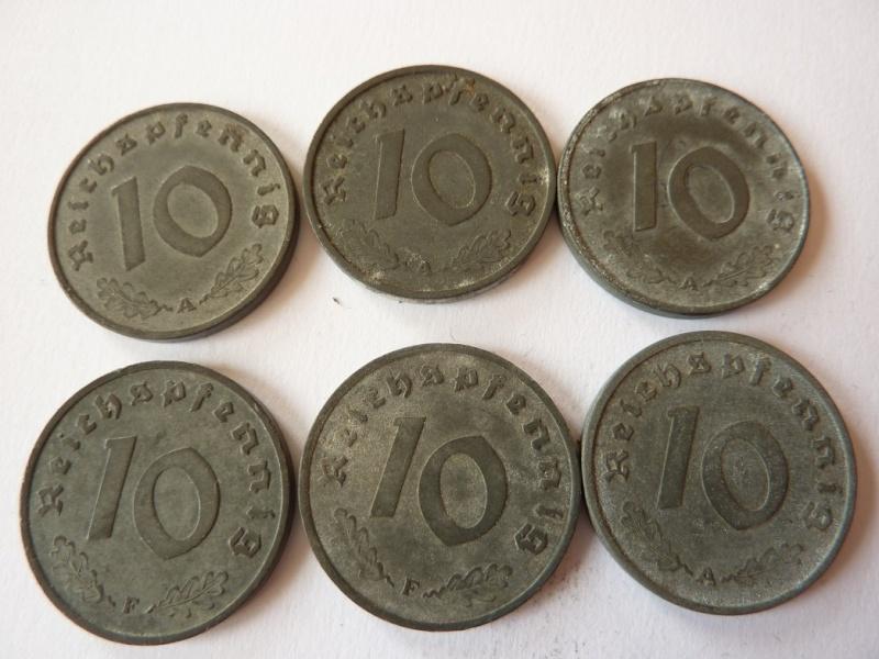 Pieces de 1, 5 et 10 Reichspfennig, toutes annees. P1180716