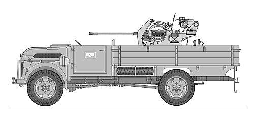 Flak 38 sur châssis modifié de Steyr 1500A/01 - Base Tamiya + conversion Leadwarrior - 1/35 Leadwa10