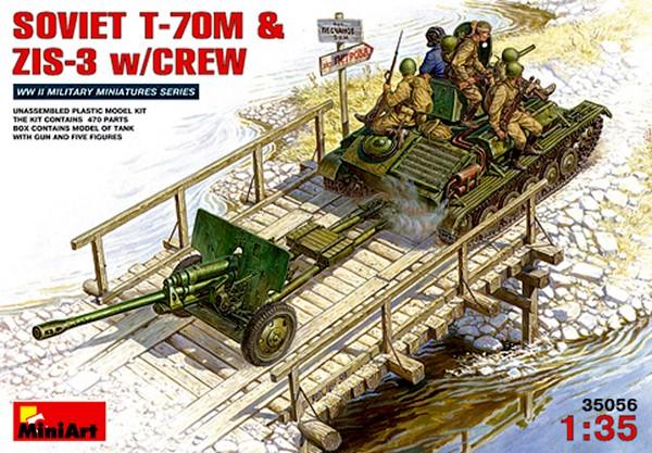 T-70 et canon ZIS-3 - MINIART 35056 - 1/35 Miniar11