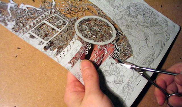 Hina Aoyama, dentelle de papier By-art10