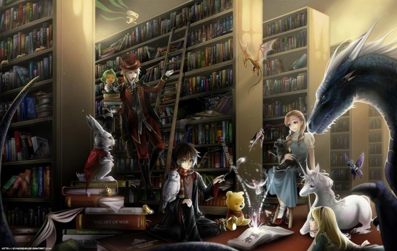 Bibliothèques et livres des songes Fantas10