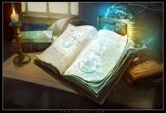 Bibliothèques et livres des songes - Page 2 Grimoi10