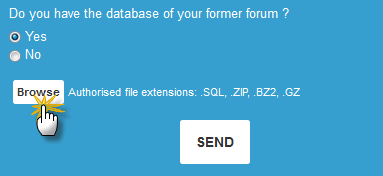 How to import your external forum on Forumotion? Browse11