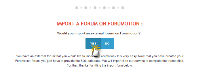 How to import your external forum on Forumotion? Import11