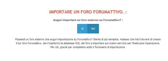 Come importare il tuo forum su Forumattivo Import13