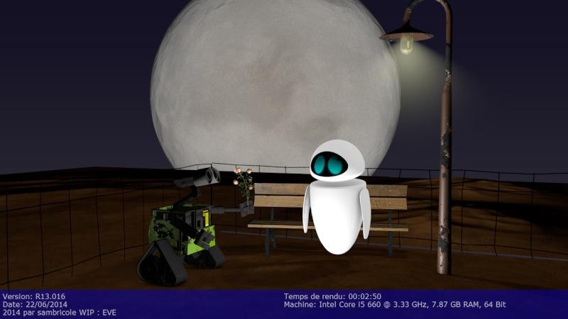 Eve , la copine de Wall-E Rendup12