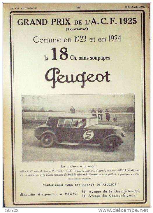 PUB Peugeot  d'époque 10885510