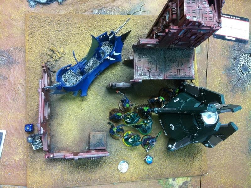 DE Sliscus Cult vs Iron Hands Armour Wall! Img_4213