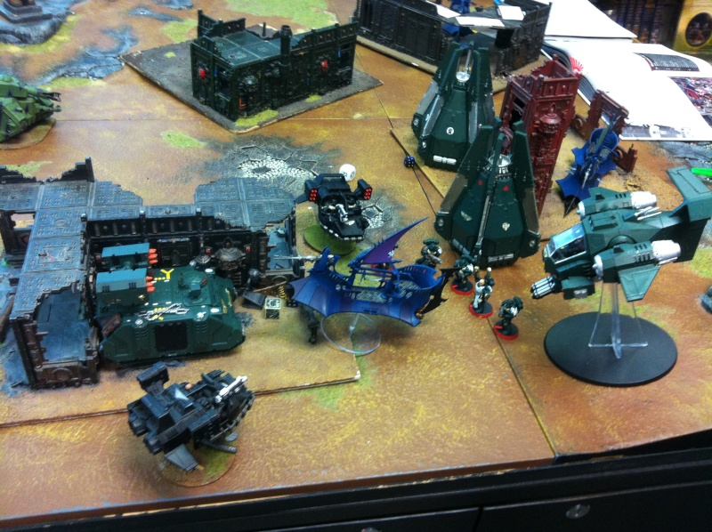 DE Sliscus Cult vs Iron Hands Armour Wall! Img_4215