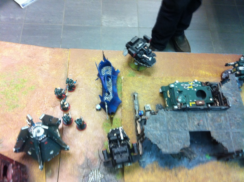 DE Sliscus Cult vs Iron Hands Armour Wall! Img_4222