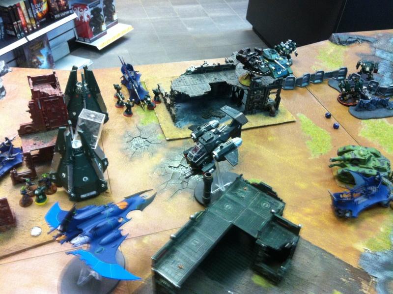 DE Sliscus Cult vs Iron Hands Armour Wall! Img_4227