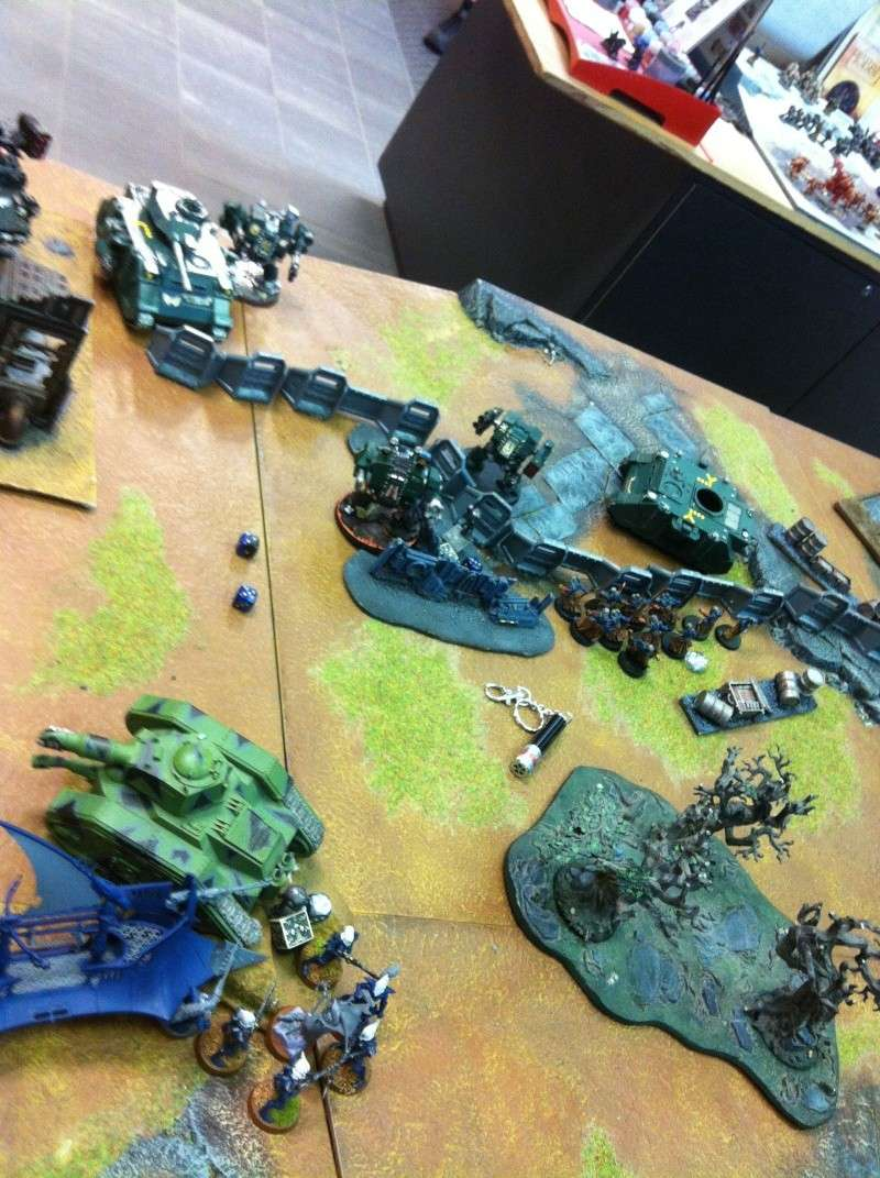 DE Sliscus Cult vs Iron Hands Armour Wall! Img_4228