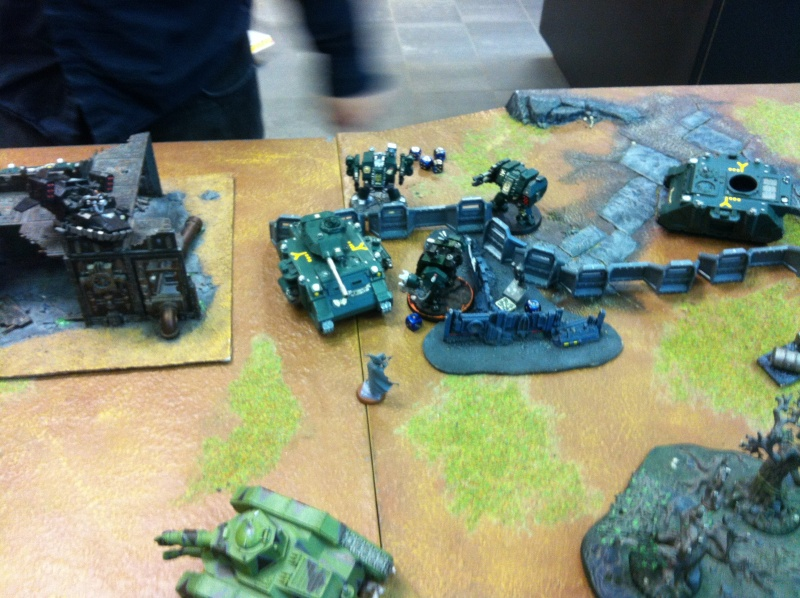 DE Sliscus Cult vs Iron Hands Armour Wall! Img_4236