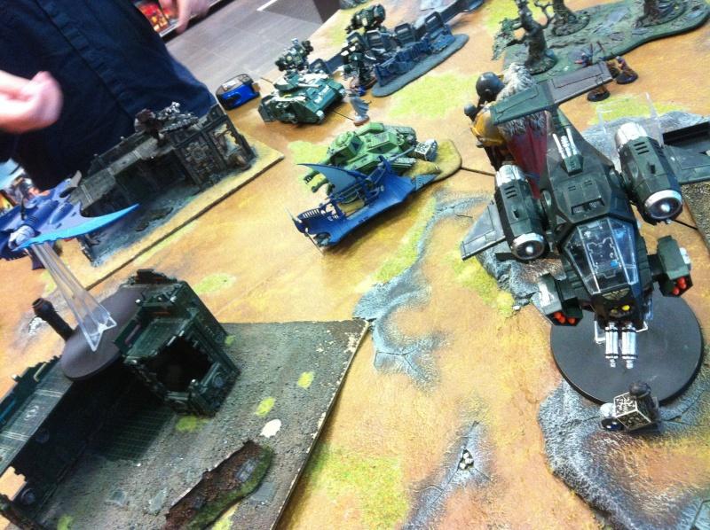 DE Sliscus Cult vs Iron Hands Armour Wall! Img_4237
