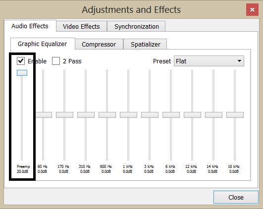تحمیل برنامج رفع صوت الفیدیو مجانا Audio Video Program Vlc-210