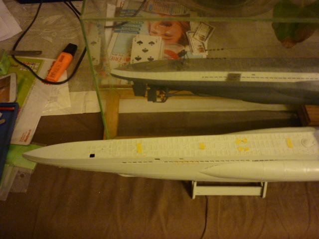 U-boote type VIID au 1/72 (U218) P1070715