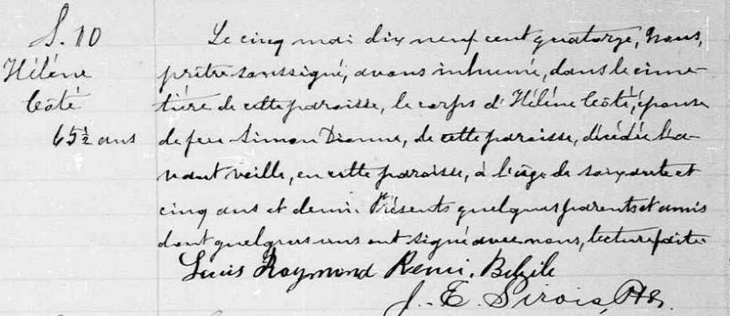 qui trouvera le mariage de Joseph Dionne et Marie Théberge Captur19