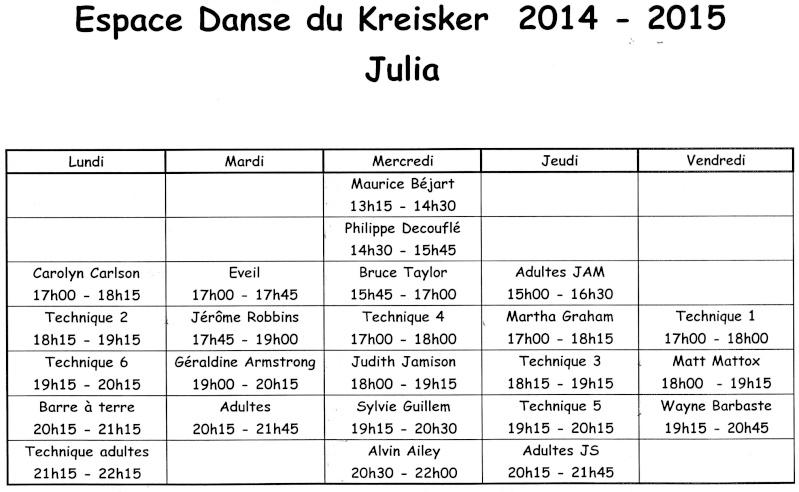 Planning cours Julia modern/jazz 2014-2015 Planni10