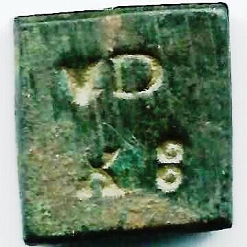Poids Monétaire  pour le demi franc argent Henri III - V Deniers XII grains 3b10