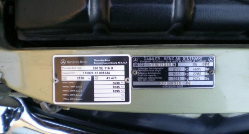 A VENDRE : W116 280 SE de 1977 équipé LPG 11-12-24