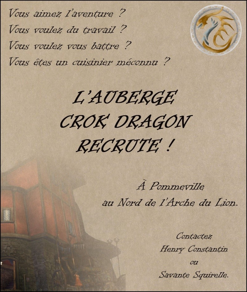 [CDrp] Auberge Crok Dragon / Recrutement ouvert. Affich10